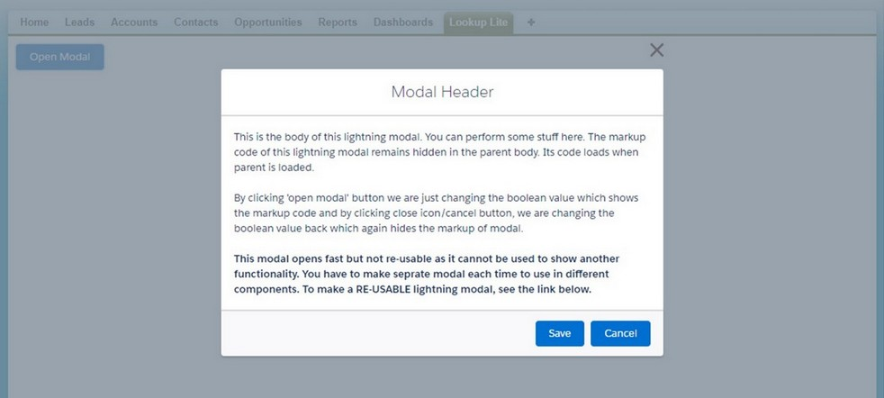 Create Modal/Popup In Lightning Salesforce - CafeForce