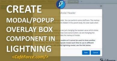 Create Modal/Popup in Lightning using aura method - CafeForce
