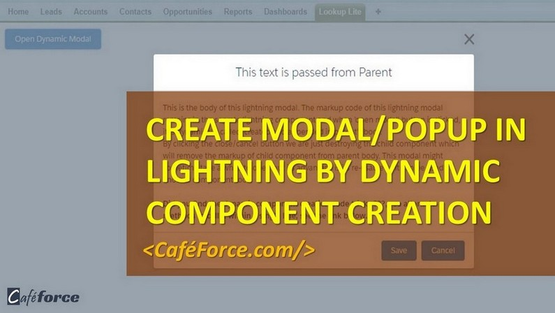 Create Modal/Popup in Lightning by Dynamic component creation