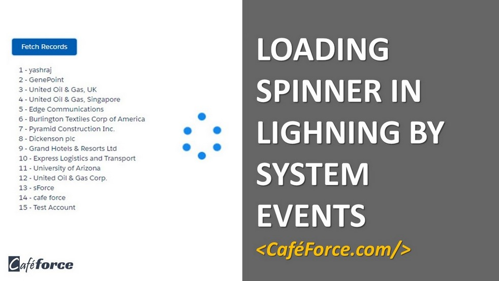 Loading Spinner in Salesforce Lightning by System Events