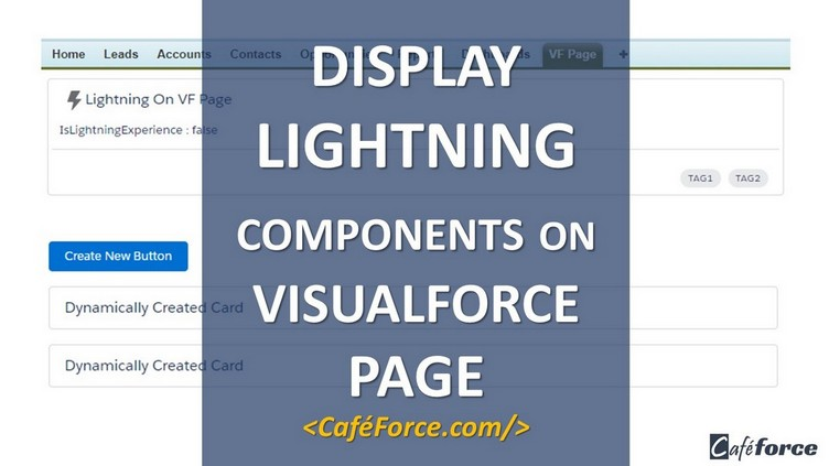 lightning component on visualforce page