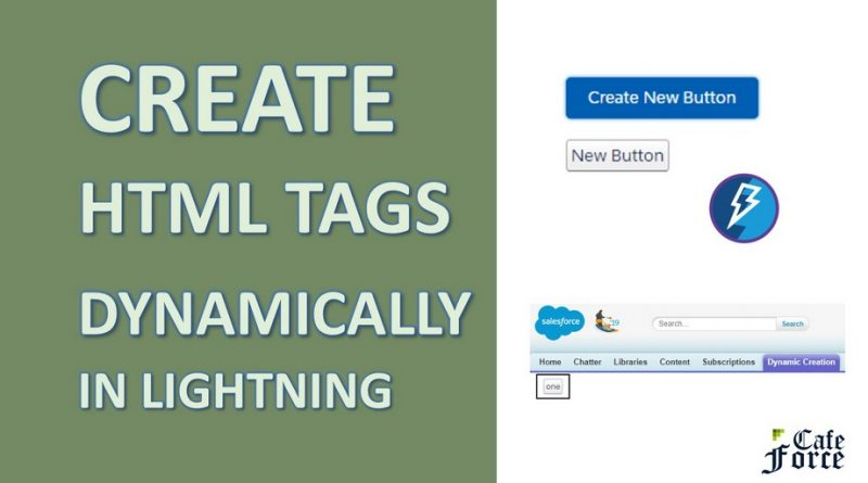 dynamic html tags creation