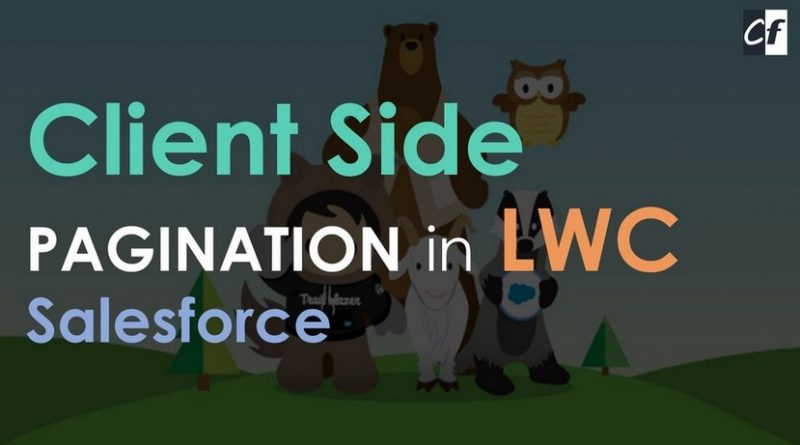 Client Side Pagination LWC Salesforce