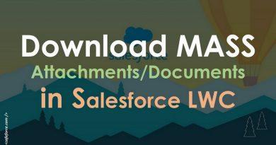Mass Bulk Attachment Download LWC