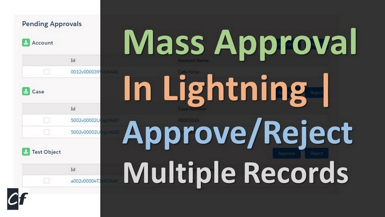 Mass record approval salesforce
