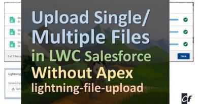 upload multiple files in LWC Salesforce